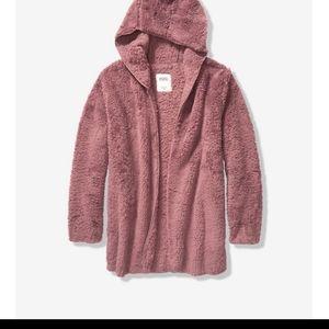 Pink Victoria Secret Sherpa Cardigan size M/L